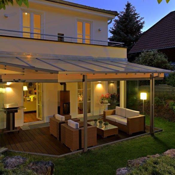 Освещение террасы (веранды) на даче: правила, светильники
