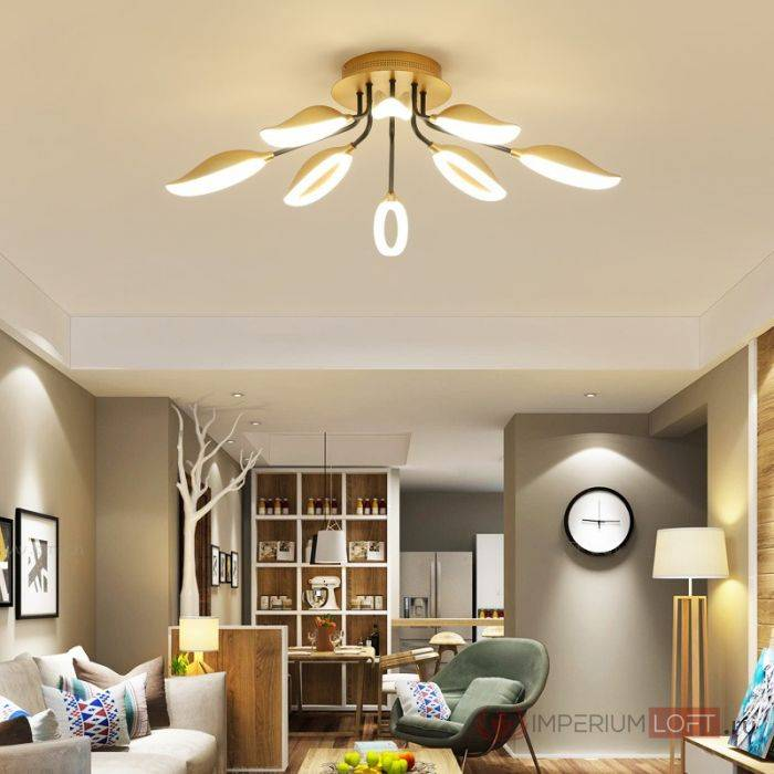 Люстры для спальни с низким потолком - примеры удачных решений, фото