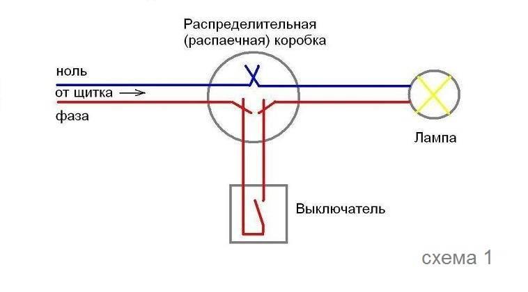 Как подключить светильник через выключатель от розетки. как соединить выключатель с розеткой при подключении светильника