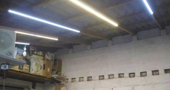 Освещение в гараже: нормы, светильники, работы