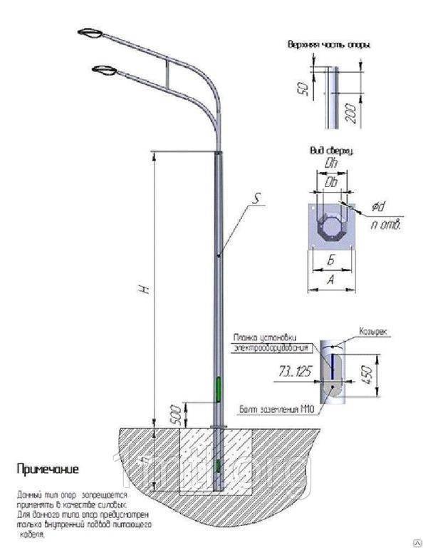 Требования предъявляемые к уличному освещению на столбах