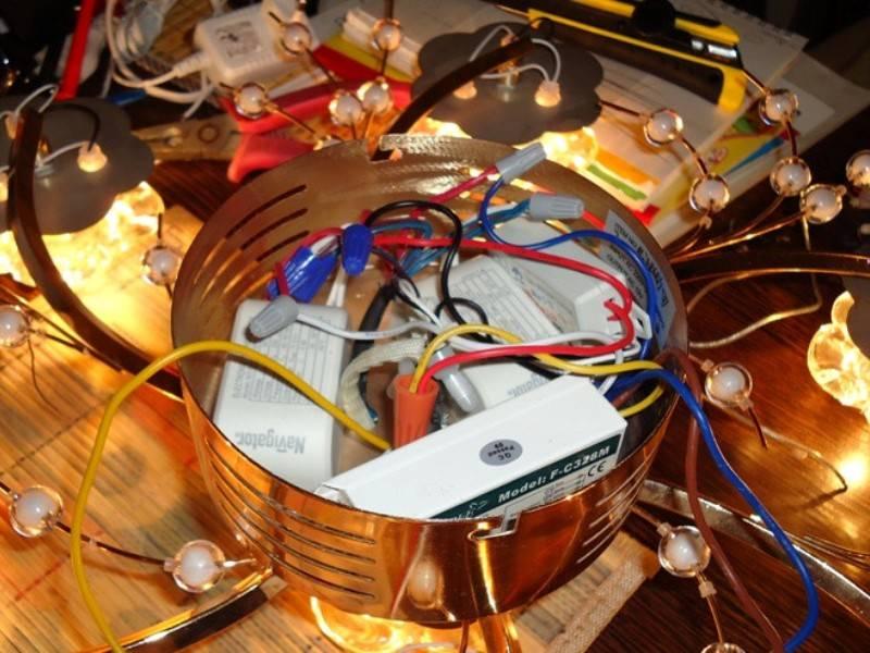 Ремонт светодиодной люстры с пультом