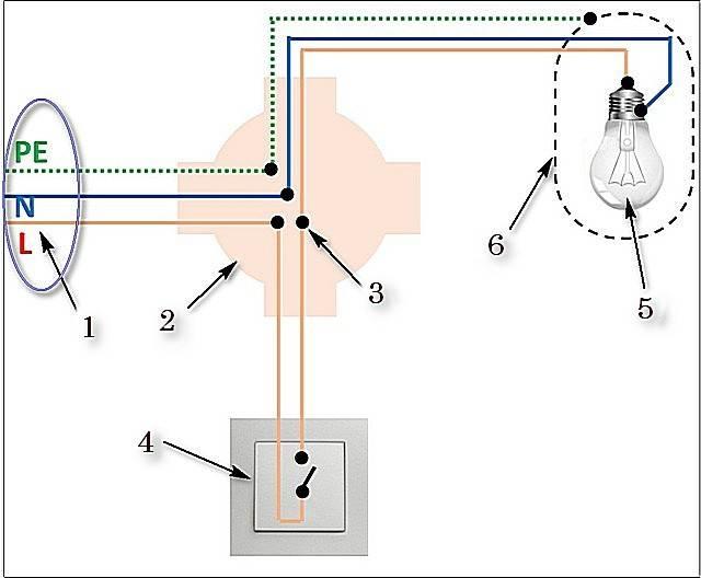 Схема подключения светильника с выключателем - tokzamer.ru