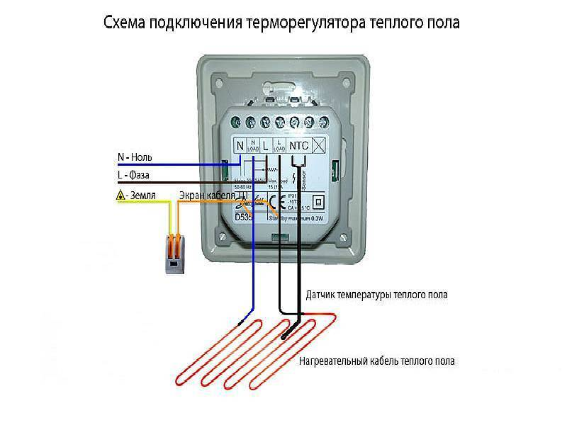 Как подключить тёплый пол к термостату: схема, особенности монтажа терморегулятора